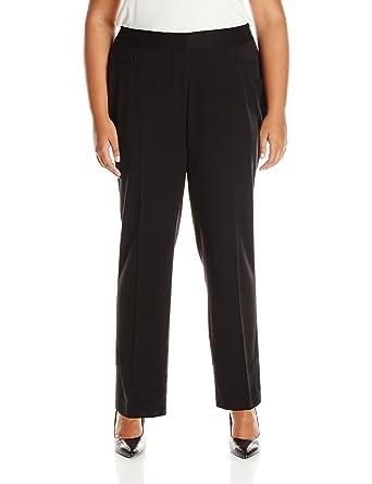 9138003fadccf Rafaella Women s Plus Size Curvy Fit Gabardine Slim Leg Pant at ...