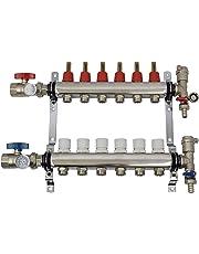 VIVO 6 Loop 1/2 inch Pex Manifold Stainless Steel Radiant Floor Heating Set   6 Branch Kit (PEX-M12-6)