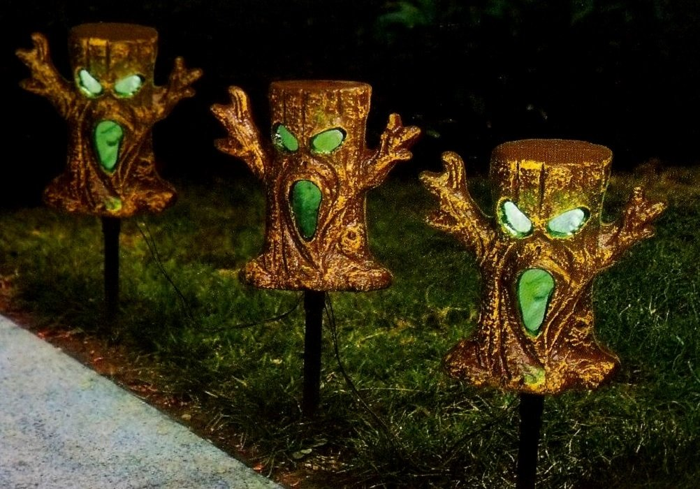 Halloween Spooky Trees Light Up Lawn Stakes Pathway Markers by Unknown