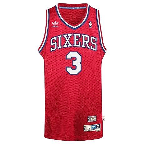 402ec9c16f6 Amazon.com   2002-03 Allen Iverson ADIDAS Philadelphia 76ers Soul Swingman  Red Jersey Men s   Sports   Outdoors