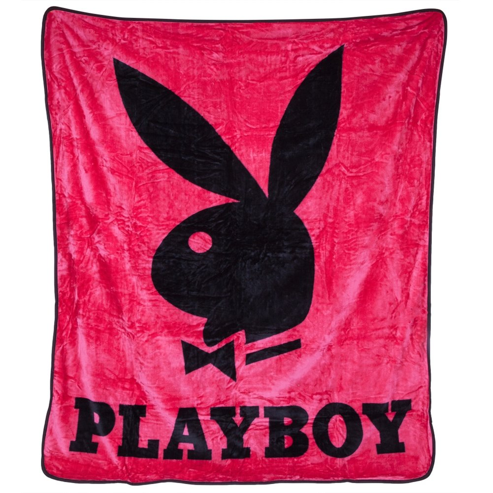 Pink PlayBoy Plush Blanket - PLAYBOY Comforter (Queen Size)