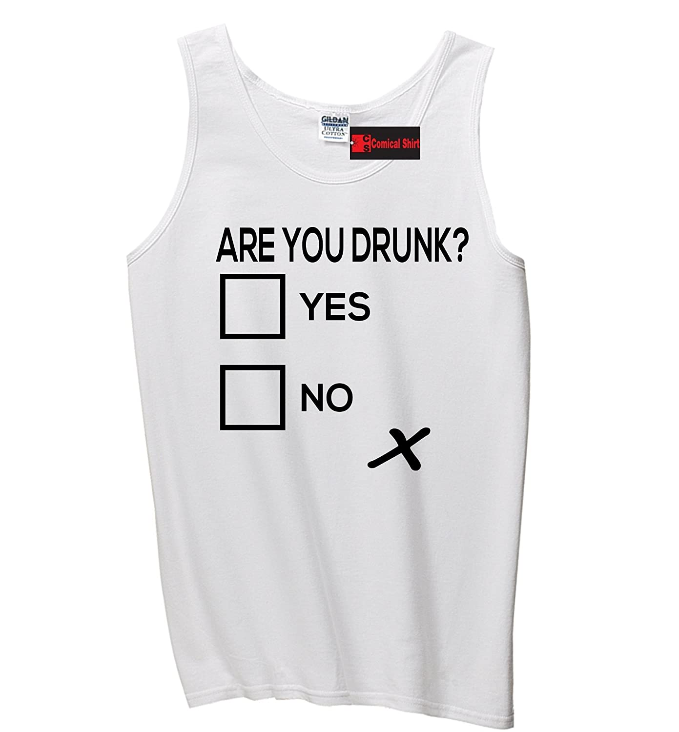 Comical Shirt Men's Are You Drunk Funny Alcohol Party Tee Tank Top hot sale
