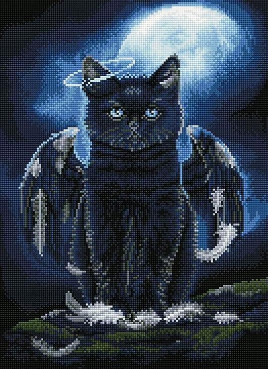 TINMI ARTS 5D Diamond Painting Full Round Kits for Adults DIY Mosaic Cross Stitch Pattern Handmade Embroidery Kits Wall D/écor 18x23 Cat and Magic Ball