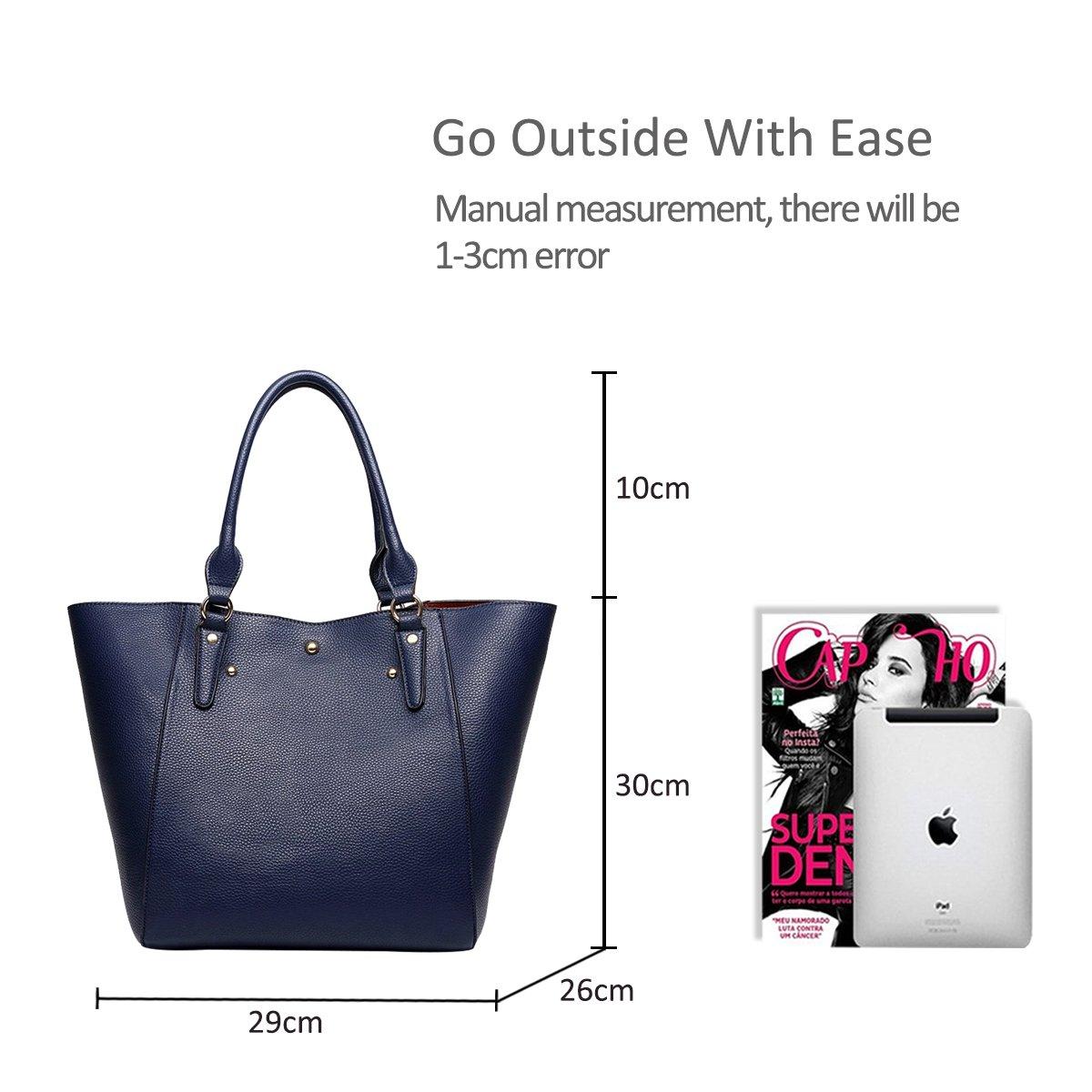 NICOLE/&DORIS Women Tote bag Handbag Shoulder Bag Women Purse 2PCS Bag