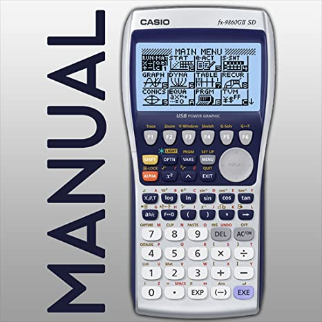 Casio FX-9860GII Graphic Calculator CD,USB,Manual ONLY