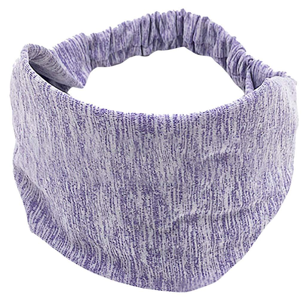 Dicomi Damen Haarband Baumwolle Frauen Geknotete Turban Head Warp Haarband Breites Elastisches Stirnband Sport Yoga