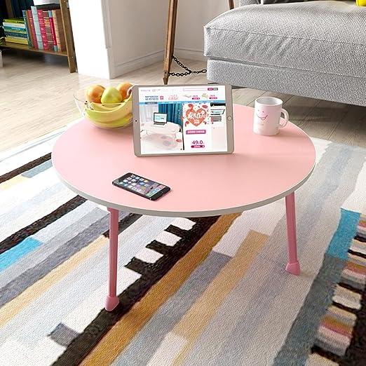 Amazon.com: QFFL Folding Computer Desk/Round Folding Table/Desk ...