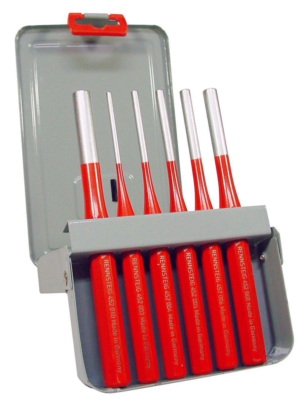 inklusive Metallkassette verchromt und pulverbeschichtet Rennsteig 425 530 6 Splintentreibersatz Exklusive 3-10 mm 6-teilig