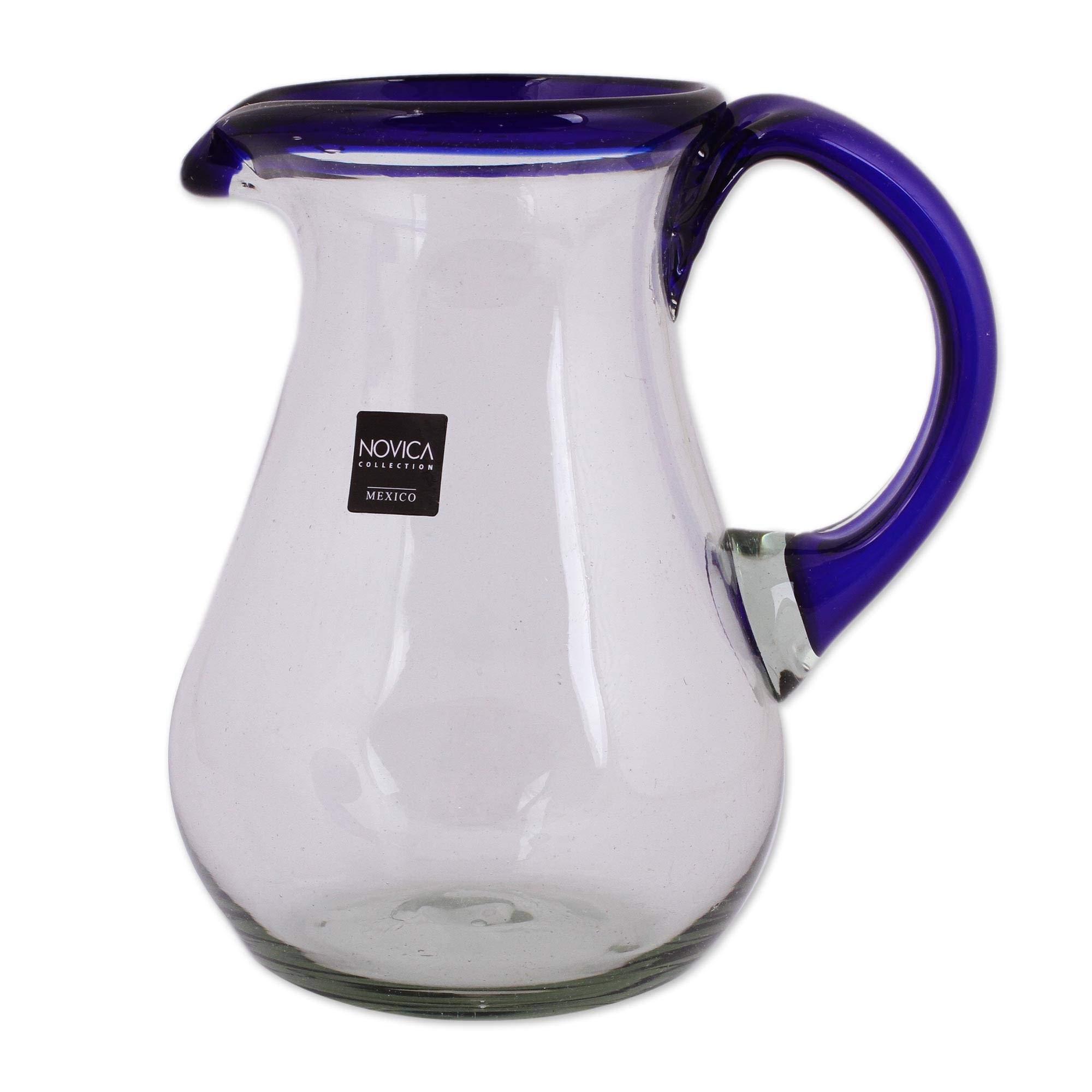 NOVICA 161655'' Blue Grace Glass Pitcher by NOVICA (Image #2)