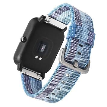 20 mm Xiaomi reloj banda Sikai correa de repuesto de nailon para Xiaomi huami aamazfit Smartwatch