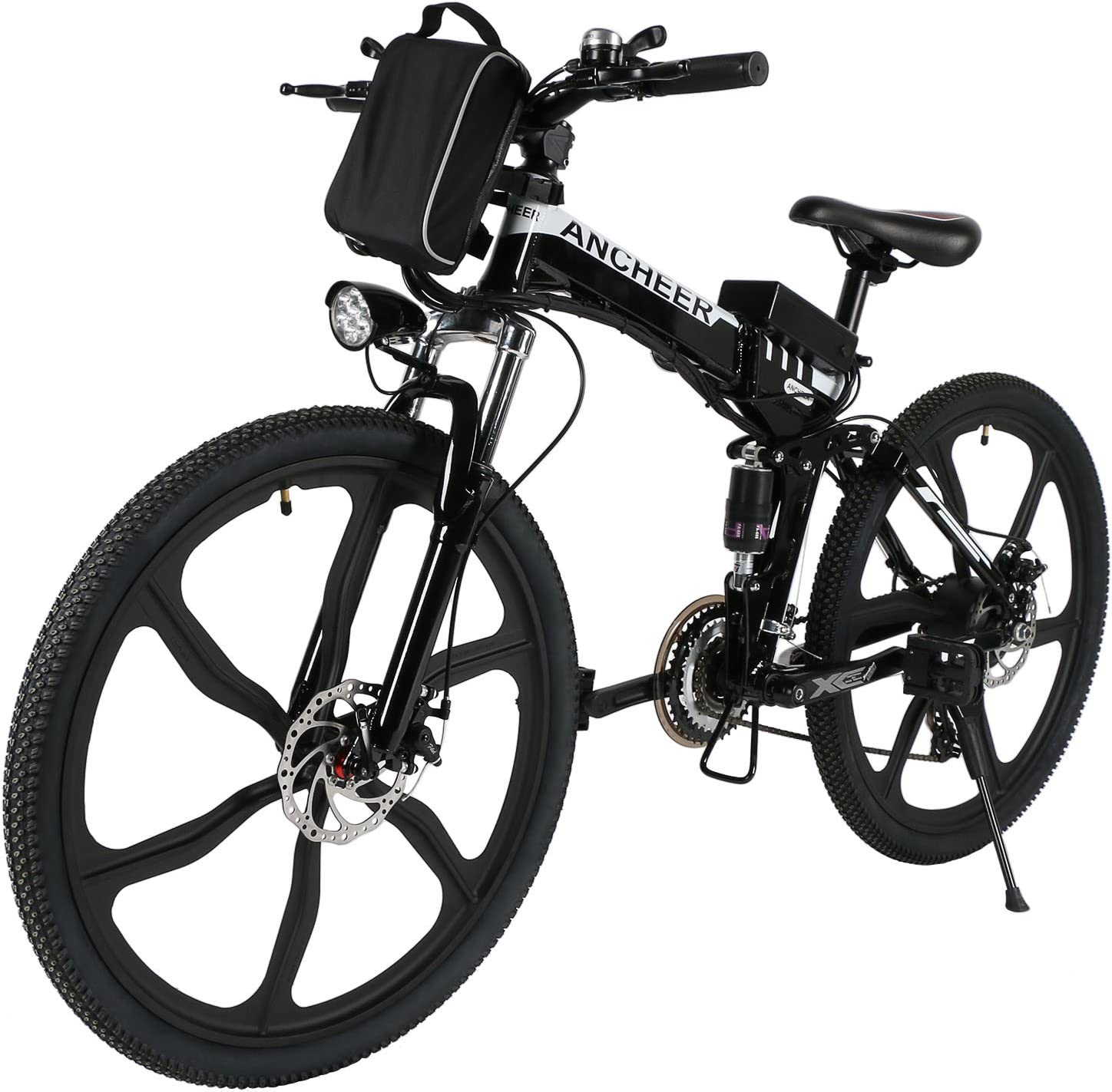 Speedrid Ebike 26 27.5 Electric Bike, Electric Mountain Bike Foldable Unfoldable with 36V 7.8 Ah 10.4Ah Lithium-ion Battery, Professional 21 24 Speed Gears