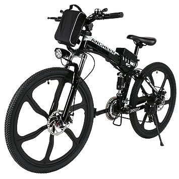 ancheer plegable E-Bike, 26 pulgadas bicicleta eléctrica 36 V 250 W Eléctrico Mountain