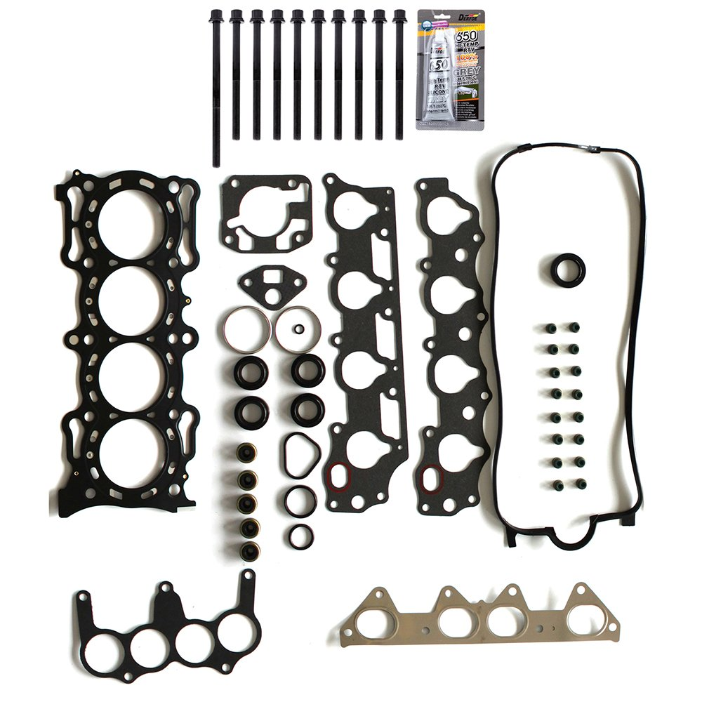 SCITOO Replacement for Head Gasket Bolts Kits Honda Acura Isuzu VTEC 2.3L F23A1 1998-2002 Engine Head Gaskets Set Kit