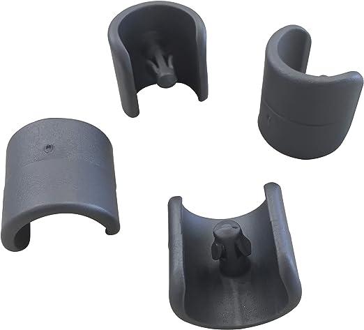 Lafuma Set di 4 piedini per sedie a sdraio, Diametro: 20 mm, Colore: Antracite, LFM2843 1229