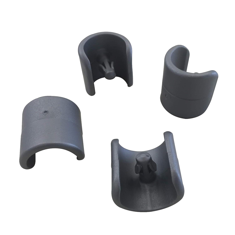 LFM2843-1229 Lafuma Set di 4 piedini per sedie a sdraio Colore: Antracite Diametro: 20 mm