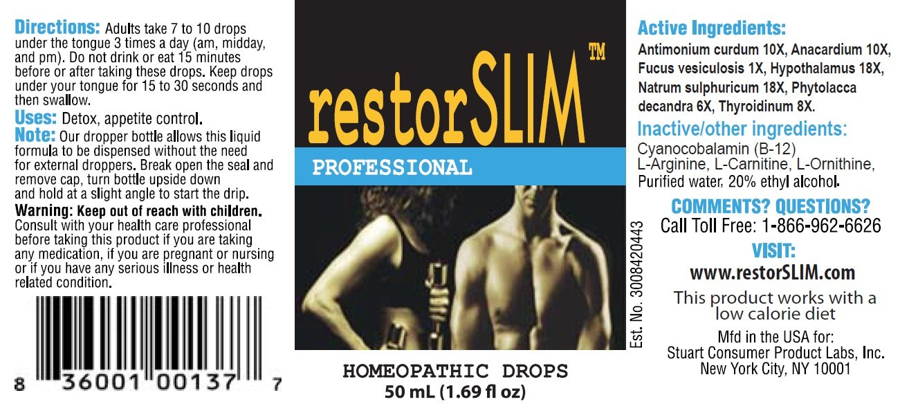 restorSLIM Homeopathic Drops. Helps Regulate and Boost metabolism for Fat Burning, Help Curb your Appetite, Greater energy, Great for Men & Woman - By Stuart CP Labs by Restorage (Image #6)