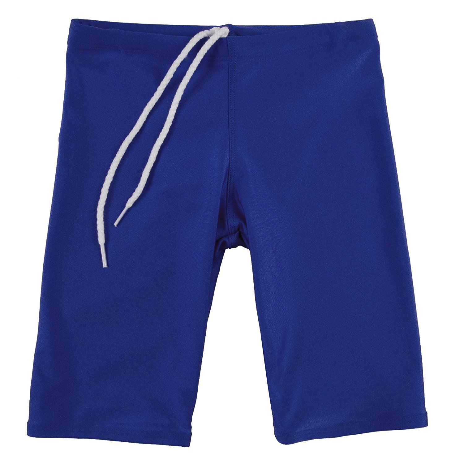 GaryM Kids Boys Solid Jammer Swim Suit (Size 8. Navy)