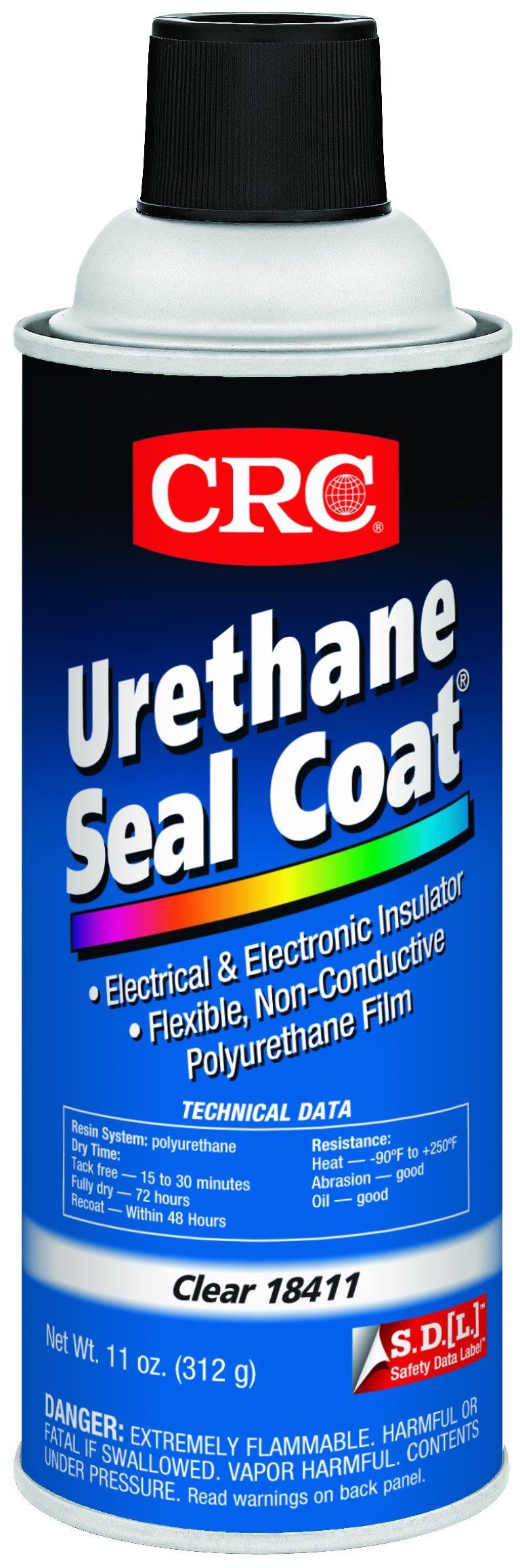 CRC Urethane Seal Coat Viscous Liquid Coating, 250 Degree F Maximum Temperature, 11 oz Aerosol Can, Clear