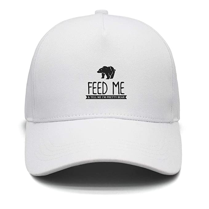 ddab0b39 Feed Me and Tell Me I'm Pretty Bear Men's Hat Daily Trucker hat Stylish