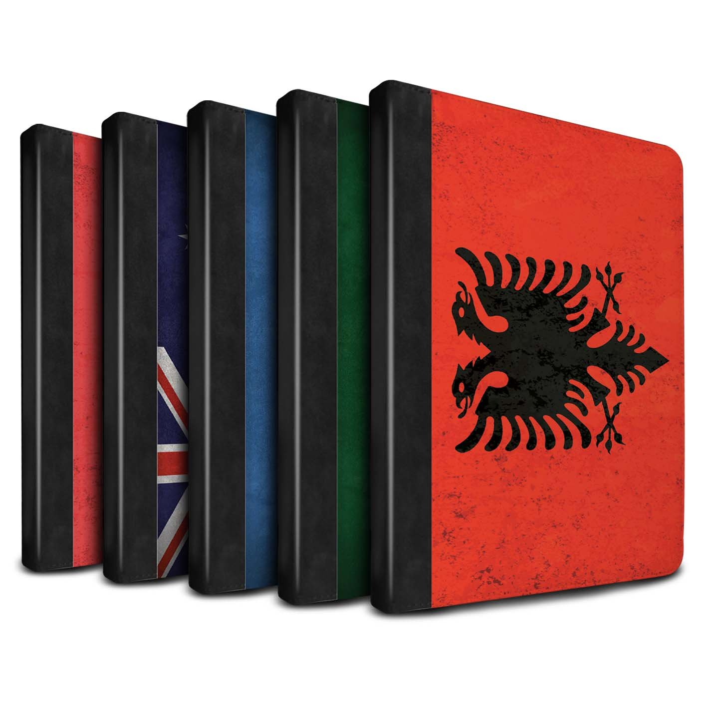 STUFF4 PU Leather Book/Cover Case for Apple iPad Pro 9.7 tablets / Pack 53pcs Design / Flags Collection