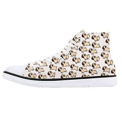 reputable site 6dfd1 999bb Amazon.com   FIRST DANCE Shoes for Women Animal Printed Shoes High Tops  Ladies Cute Cat Shoes for Women Spring Shoes Cat Dog Print Shoes for Women  US 6.5 ...