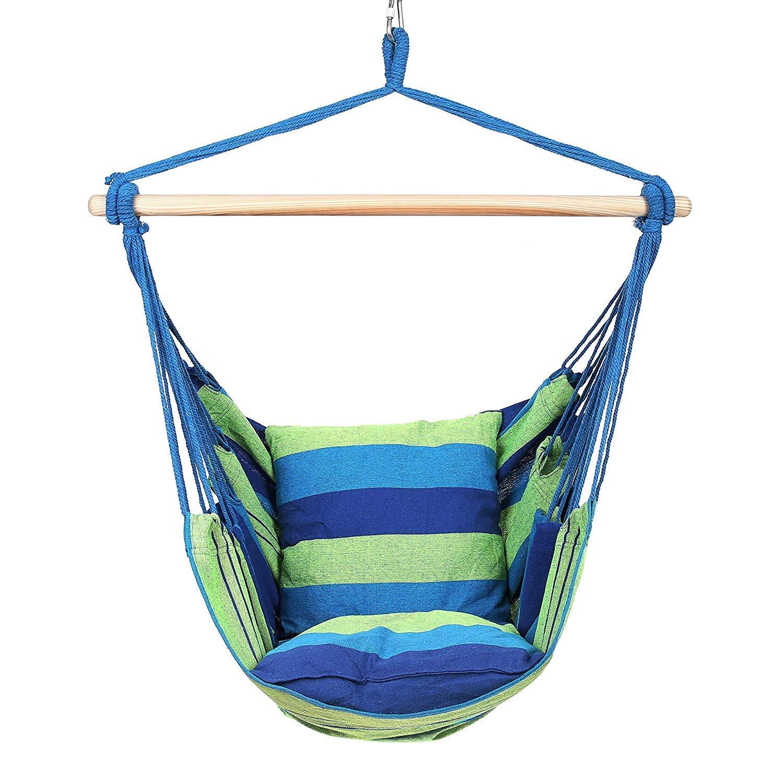 Blue Hanging Chair US Stock Swing Chair Zippem Hammock Chair