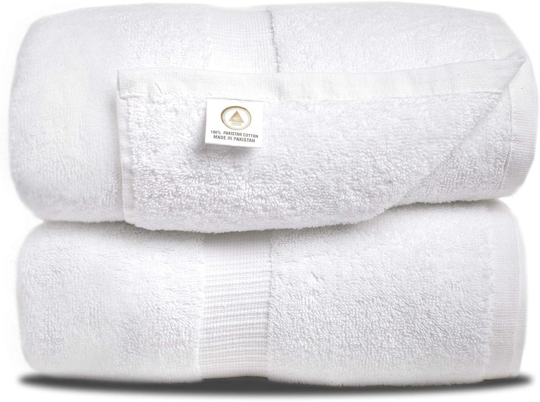 Zenith Luxury Bath Sheets - (2 Piece) Oversized Bath Towels, Bath Sheets 40 X 70, Bath Towels Extra Large, 600 GSM, Towels Clearance,100% Cotton, toallas de baño Grandes: Kitchen & Dining