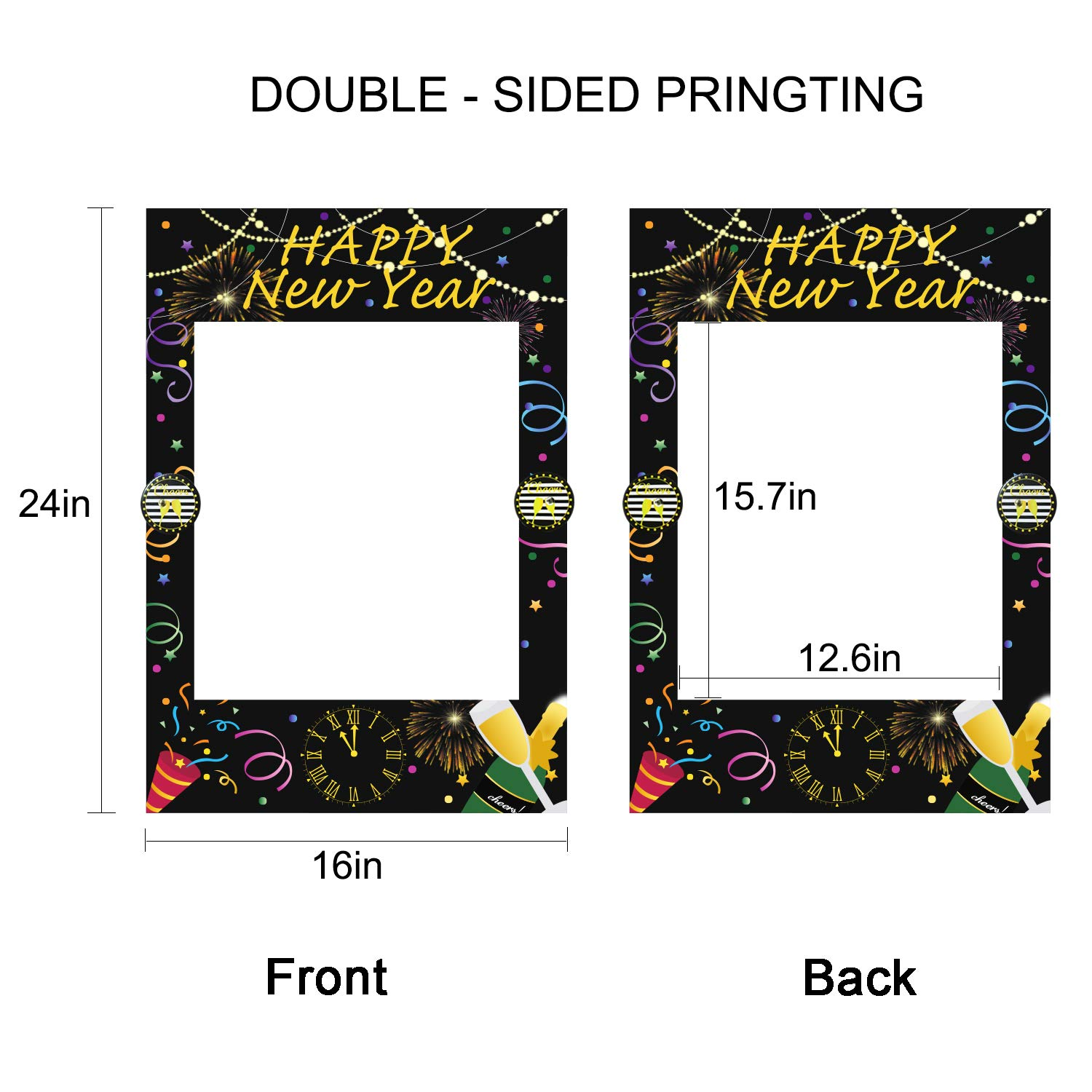 Happy New Year Photo Booth Props Frame – New Years Eve ...