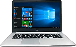 "Dell Inspiron 17 5000 Series 5770 17.3"" Full HD Laptop - 8th Gen Intel Core i7-8550U Processor up to 4.0 GHz, 16GB Memory, 256GB SSD + 2TB HDD, 4GB AMD Radeon 530 Graphics, Windows 10 Pro, Silver"