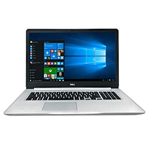 "Dell Inspiron 17 5000 Series 5770 17.3"" Full HD Laptop - 8th Gen Intel Core i7-8550U Processor up to 4.0 GHz, 16GB Memory, 1TB SSD, 4GB AMD Radeon 530 Graphics, Windows 10 Pro, Silver"