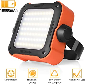30W 21 LED COB Rechargeable Portable Lantern Camping Tent Work Light with Hook