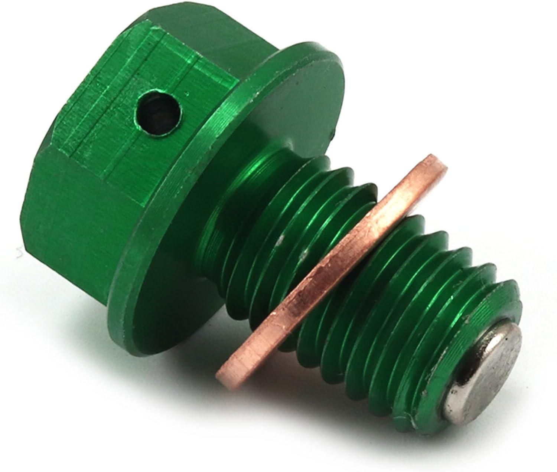 Engine Magnetic Oil Drain Plug Aluminum Bolt nut for Kawasaki KX450F 06-15 KLX450R 08-13 Motorcycle Dirt Bike