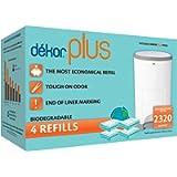 Diaper Dekor Plus Diaper Pail Liner Refills Biodegradable, 4 Count
