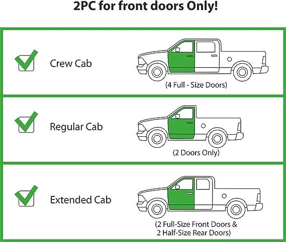 Vent Deflector - 414003 CLIM ART Incredibly Durable Rain Guards for Chevrolet Truck Accessories 4 pcs Chevy Silverado 2014-2018 Crew Cab,Original Tape-on Window Deflectors Vent Window Visors