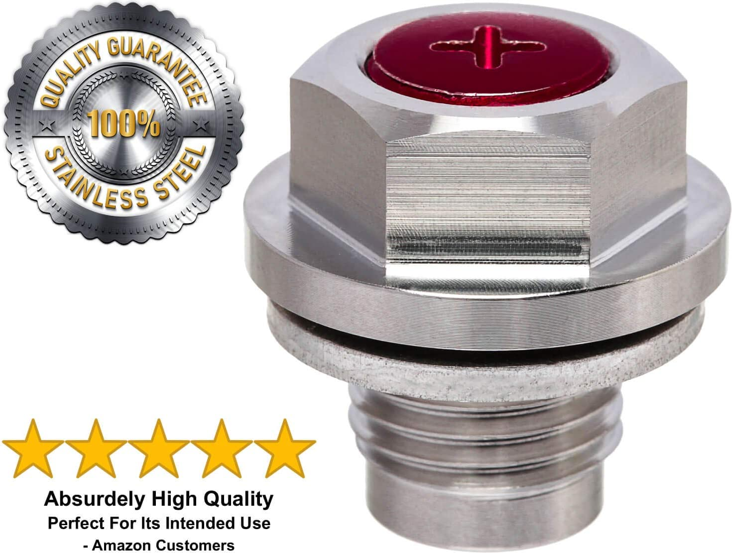 FORD MONDEO  ALL MODELS MAGNETIC OIL DRAIN SUMP PLUG M14 cross drilled