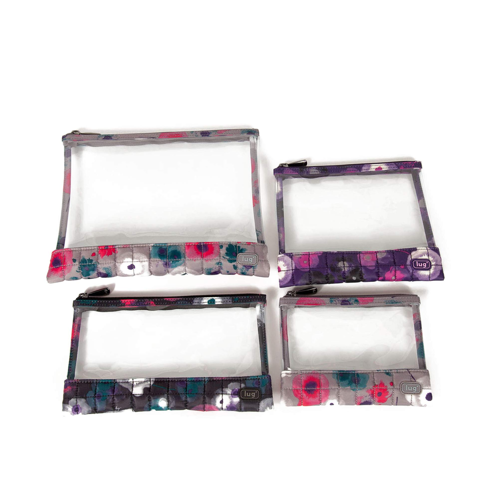 Lug Women's Clearview Envelopes 4 Piece Set, Watercolor, Water Color by Lug