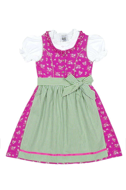 Isar Trachten Kinderdirndl Sabina pink/grün K010015