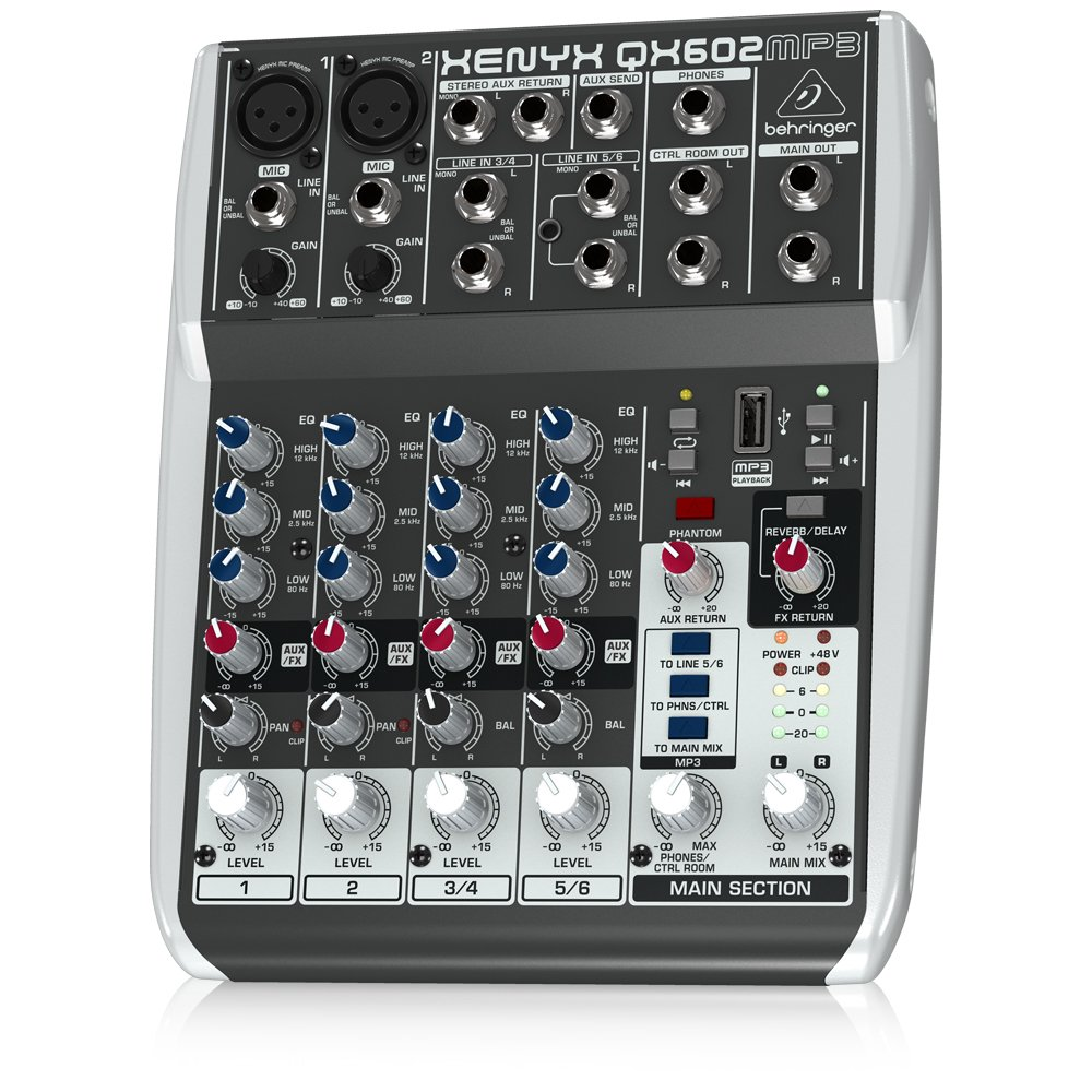 BEHRINGER, 6 Audio Mixer (QX602MP3) by Behringer (Image #1)