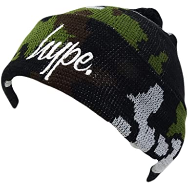 f03942b0073 HYPE Khaki Beanie - Camo Bobble  Amazon.co.uk  Clothing