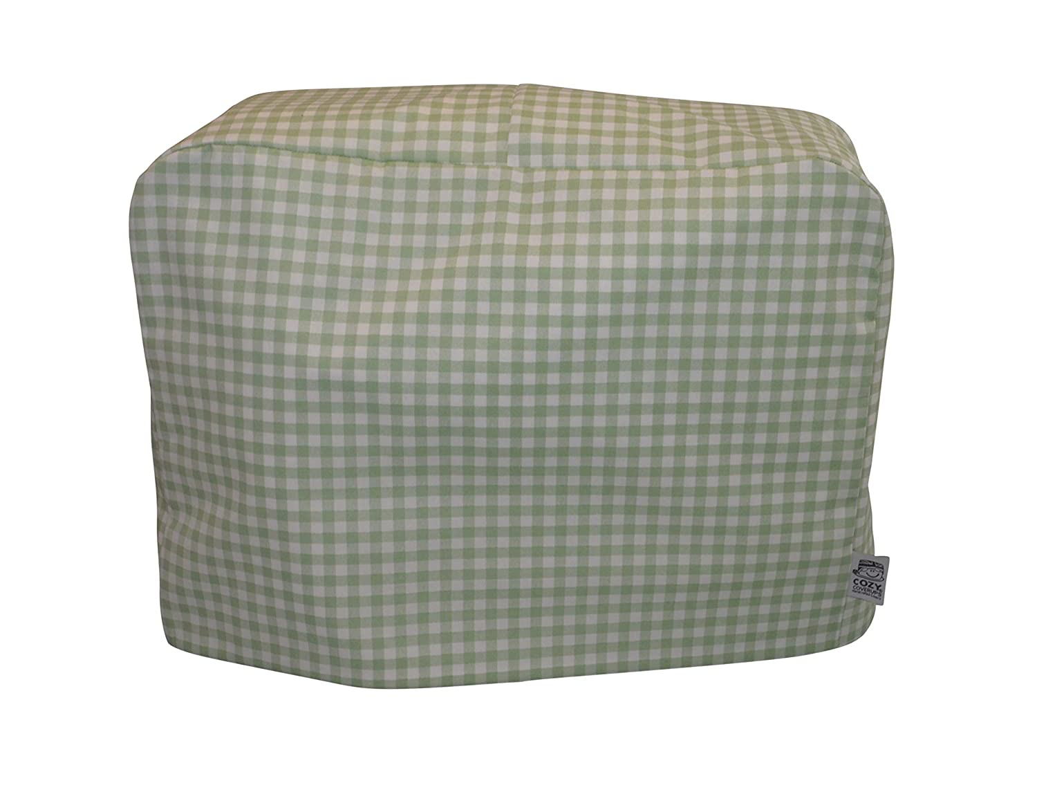 CozyCoverUp® Handmade Sewing Machine Dust Cover in Green Gingham CoolCozy Covers