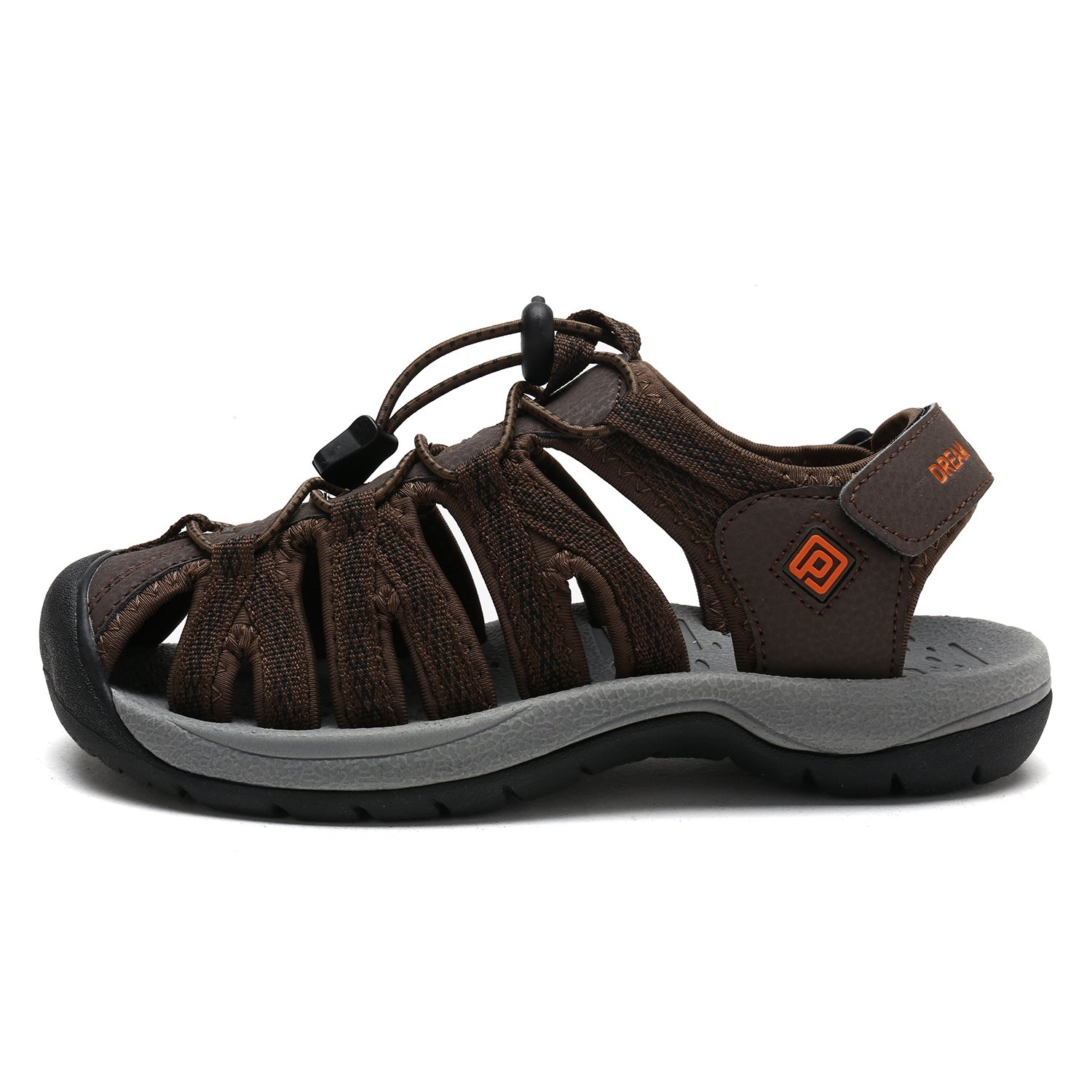 DREAM 7 PAIRS Women's 160912-W Adventurous Summer Outdoor Sandals B077GBRYYK 7 DREAM B(M) US|Brown Blk Orange da4231