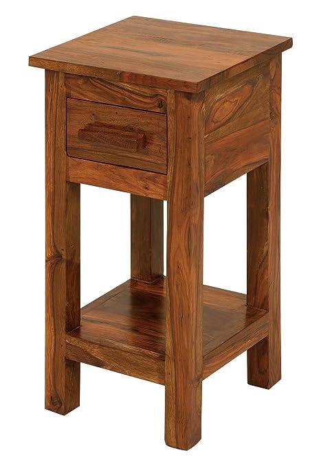 Cube Sheesham Telephone/lamp Table 1 Drawer Size: Small Thakat Jali Table   Livingroom