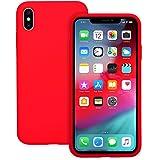 IVSUN Case for iPhone Xs Max 6.5-Inch Liquid Silicone 360 Full Protection Rubber Gel Cover Slim [ Anti-Fingerprint…
