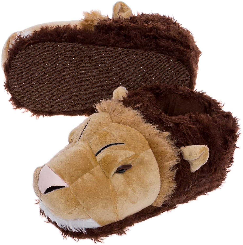 Amazon.com: Zapatillas para la cara de león plateado ...