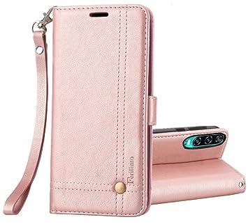 Ferilinso Funda para Huawei P30, Carcasa Cuero Retro Elegante con ID Tarjeta de Crédito Tragamonedas Soporte de Flip Cover Estuche de Cierre magnético ...