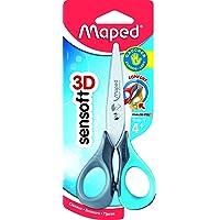 Maped Sensoft Scissors with Flexible Handles, Kids, 5 Inch, Blunt Tip, Left Handed, Assorted Colors (693500)