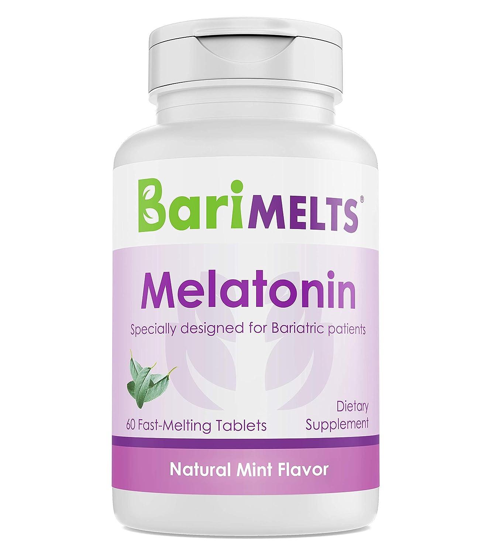 Amazon.com: BariMelts Melatonin, Dissolvable Bariatric Vitamins, Natural Mint Flavor, 60 Fast Melting Tablets: Health & Personal Care