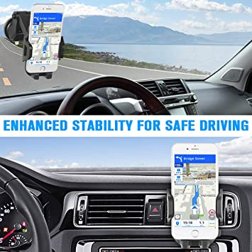 Amazon.com: VANZEV Cell Phone Holder for Car, Dashboard Windshield ...