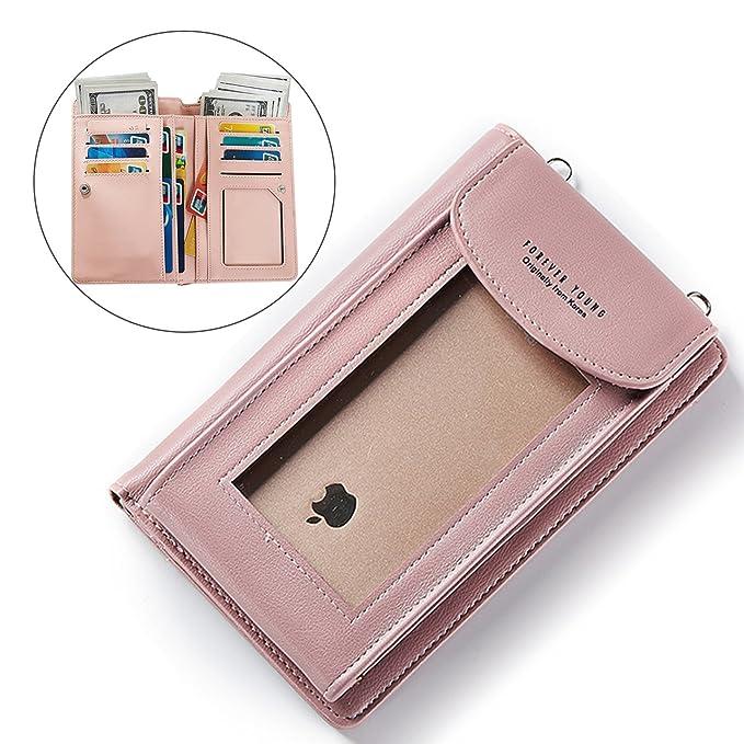 5 opinioni per Le donne Borse a tracolla solida borsa Portafoglio Wearable,Bonice Universale