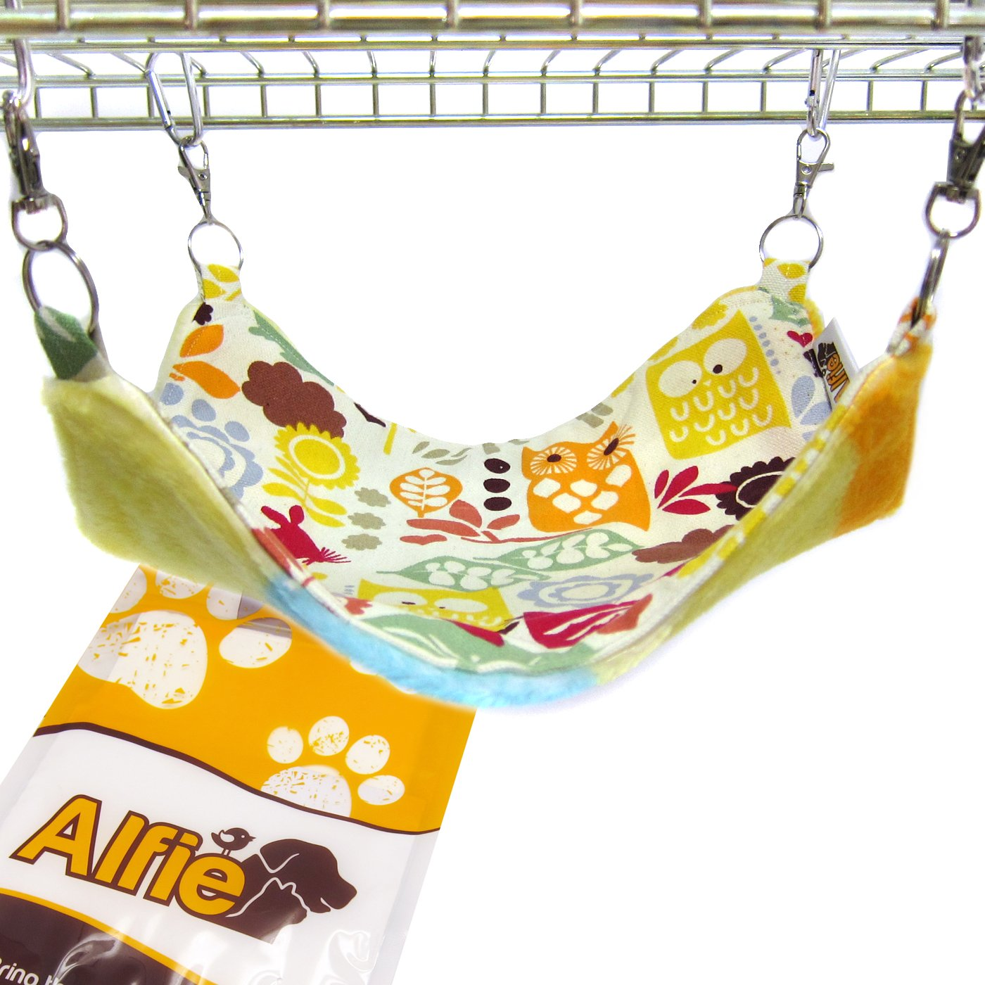 Alfie Pet by Petoga Couture - Paisley Reversiable All-Season Hammock for Small Animals like Guinea Pig and Rabbit - Pattern: Animal, Size: L